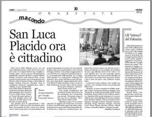 Scansione pagina di Calabria Ora
