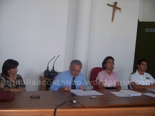In foto: Angela Diano (dirigente Arpacal), Zappavigna Sindaco di Bovalino, Giovanna Belmusta (dirigente Arpcal), Pittelli Comandate Delegazione di Spiaggia d Bovalino