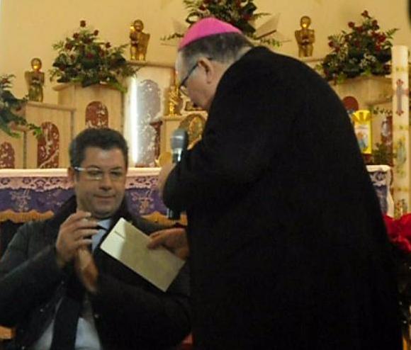 Vescovo e Presidente Scopelliti a San Luca